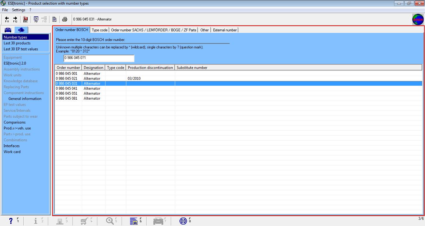 Bosch Esi Tronic 20 Vehicle Diagnostic Software Guide Alternator Wiring Schematic Parts List